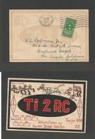 COSTA RICA. 1947 (22 Dec) San Jose - USA, LA. 5c Green Fkd Radio Waves Card With Fancy Bull Fighting Party! Real Fun. - Costa Rica