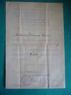 1918 REGIO ESERCITO ITALIANO 3° REGGIMENTO GENIO AUTORIZZAZIONE PER STELLETTE 5 PUNTE PER FATICHE DI GUERRA CON TIMBRO - Documentos
