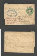 MEXICO - Stationery. 1904 (1 Sept) DF - Australia, Hilda, Victoria. Sociedad Filatelica De Mexico. 2c Green Stationary W - Mexico