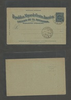 SALVADOR, EL. 1898 2c Blue/bluish Stationary Card On Chile Post Office Control Archive. Rarity. First We See. - El Salvador