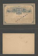 NICARAGUA. 1890. 3cts Blue UPU Stationary Card, Overprinted SPECIMEN. Very Scarce Early Item And Fine. - Nicaragua
