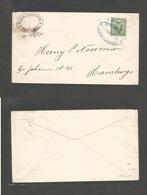 ECUADOR. 1898 (7 Febr) Guayaguil - Germany, Hamburg. Unsealed Fkd Pm Rate Envelope Bearing 1c Green Oval Cds. VF And Mos - Ecuador