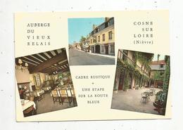 Cp, Hôtels & Restaurants , AUBERGE DU VIEUX RELAIS , Bar ,58 ,  COSNE SUR LOIRE , Multi Vues , Vierge,  Ed. Atlas - Hotels & Restaurants