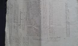 Administration Général Des Eaux Et Foret 1811 - Historical Documents
