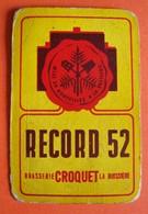 Une Carte à Jouer. Record 52. Brasserie Croquet. La Buissière. - Barajas De Naipe