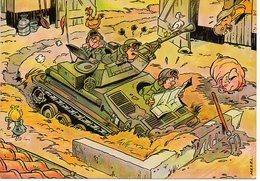 Tank Op Boerderij Ferme Char  Mazel Humor Humoristque Humour Militaire Military Militair Militär - Humor