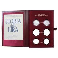 ITALIA REPUBBLICA SOLO ANNO 1999 - Storia Della Lira FIOR DI CONIO - INCLUSO COFANETTO ROSSO FLOCCATO - Commemorative