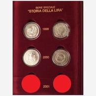 ITALIA REPUBBLICA SOLO ANNO 1999 - 2000 - Storia Della Lira FIOR DI CONIO - INCLUSO COFANETTO ROSSO FLOCCATO - Commemorative
