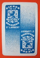 Une Carte à Jouer. Brasserie Saint-Lambert. Blicquy. - Barajas De Naipe