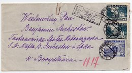 Poland Registered Zegiestow Zdroj Boryslaw 1936 - 1919-1939 Republic