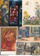 Lot / Konvolut / Sammlung: 100 AK Mit Motiv Kunst / Malerei / Bildhauerei / Fresken / ... (Lot103) - 100 - 499 Karten