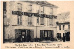 VILLARD DE LANS - Hotel De La Poste - Imbert (542 ASO) - Villard-de-Lans