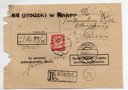 Poland Ukraine Registered Bobrka Lwow 1938 - 1919-1939 Republic
