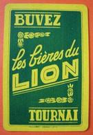 Une Carte à Jouer. Brasserie Lion . Tournai. - Cartes à Jouer