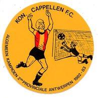 Sticker Autocollant Kon. Cappelen FC Voetbal Fussball Football  Kampioen 1982 1983 Sport - Autocollants