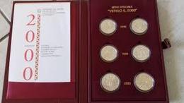 ITALIA REPUBBLICA ANNI 1998 - 1999 - 2000 - VERSO IL DUEMILA 2000 - FIOR DI CONIO - INCLUSO COFANETTO ROSSO FLOCCATO - Commemorative