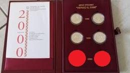 ITALIA REPUBBLICA SOLO ANNI 1998 - 1999  - VERSO IL DUEMILA 2000 - FIOR DI CONIO - INCLUSO COFANETTO ROSSO FLOCCATO - Commemorative