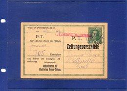 ##(DAN196)-Austria 1917-8 Heller Postal Card  From Wien To Mattarello-Trento-Tirol-Private Printing Illustrierten Kronen - Covers & Documents