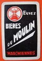 Une Carte à Jouer. Bières Du Moulin. Brasserie. Marchiennes. - Barajas De Naipe