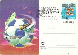 """Tarjeta Postal, Cartolina Postale, Post Card Espana 82, Mondiali Calcio In Spagna, Annullo """"Primer Dia De Circulacion"""" - Altri"""