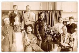 MILITAIRE - CARTE PHOTO - 1914 - Sous-Officiers Blessés à L' Hôpital N° 28, Collège D' Agde, Hérault - Guerre 1914-18
