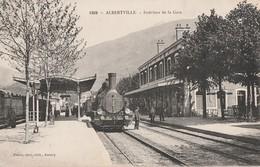 ALBERTVILLE - LE TRAIN EN GARE, SUPERBE PREMIER PLAN DE LA LOCO - BELLE CARTE ANIMEE - TOP !!! - Albertville