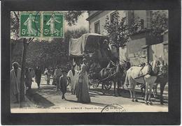 CPA Postes Courrier De Aumale Algérie Circulé - Postal Services