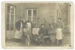 Cpa Carte-photo Soldats, 157e Infanterie Compagnie De Garde à Jausiers ( Basses-Alpes ) ( MI ) - Personnages