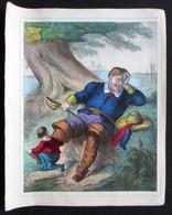 INTROUVABLE ! 6 GRAVURES COLOREES MAIN + Pages Livre Complet * LE PETIT POUCIN - WENTZEL 1869 * !!! - Estampes & Gravures