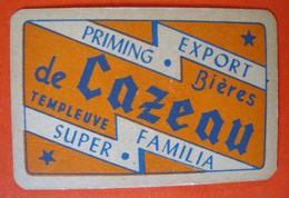 Une Carte à Jouer. Brasserie Du Cazeau. Templeuve. - Barajas De Naipe