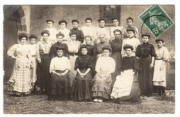 Supposé CLUIS (36) - CARTE PHOTO - GROUPE DE FEMMES - Other Municipalities