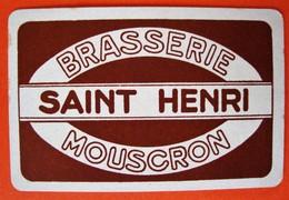 Une Carte à Jouer. Brasserie Saint-Henri. Mouscron - Barajas De Naipe