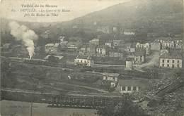 DEVILLE - La Gare Et La Meuse. - Gares - Avec Trains