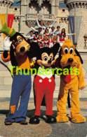 CPSM WALT DISNEY DISNEY WORLD DISNEYWORLD MICKEY GOOFY PLUTO - Disneyworld