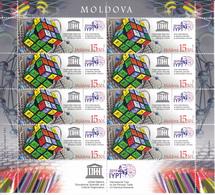 "2019 , Moldova  Moldavie   UN ""2019 – International Year Of The Periodic Table Of Chemical Elements"", Sheetlet ,  MNH - Moldova"