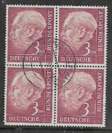 Germany, FRG,Theodore Heuss, 3DM, Block Used, HAMBURGFLUGHAFEN 3-5-60, C.d.s. - [7] Federal Republic