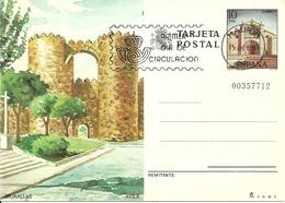 "Tarjeta Postal, Avila (Castiglia Y Leon, Spagna) Murallas, Annullo ""Primer Dia De Circulation"" - Ávila"