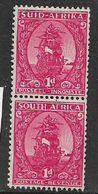 South Africa, 1943, 1d Carmine, Coil, Pair, MH * - South Africa (...-1961)