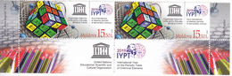 "2019 , Moldova  Moldavie UNESCO  UN ""2019 – International Year Of The Periodic Table Of Chemical Elements"", 2 V. ,  MNH - Moldova"