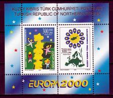 Cyprus(Turkije) Blok Mi 19 Europa Cept 2000 Postfris M.N.H.sheet - Europa-CEPT