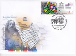 "2019 , Moldova  Moldavie UNESCO  UN ""2019 – International Year Of The Periodic Table Of Chemical Elements"", FDC - Moldova"