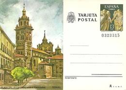 Tarjeta Postal, Teruel (Aragona, Spagna) Plaza De Ayuntamiento Y Catedral - Teruel