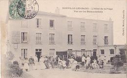 DONVILLE-LES-BAINS (50) - Hôtel De La Plage - Vue Sur Les Blancs-Arbres - Moulin - 1907 - Frankreich