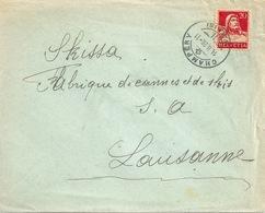 Brief  Champéry (Valais) - Lausanne             1926 - Svizzera