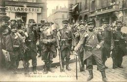 MILITARIA - Carte Postale - Bordeaux - Août 1914 , Départ Du 7ème Colonial -  L 30007 - Guerre 1914-18