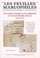 Les Tarifs Postaux En Lorraine Au XVIIIème Siècle  (1704- 1701 - Philatélie Et Histoire Postale