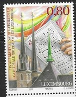 LUXEMBOURG, 2019, MNH, NOTRE DAME CATHEDRAL OF LUXEMBOURG, MUSIC, 1v - Eglises Et Cathédrales