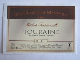 41 Loir Et Cher Mareuil Sur Cher Touraine Saint Martin Le Beau étiquette Vin Autocollant Autocollants - Etiquettes