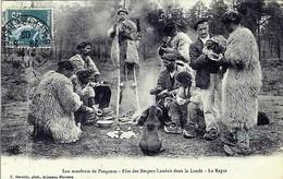 D40 - LEU MOULEUTE DE PASQUOUS - FËTE DES BERGERS LANDAIS DANS LA LANDE - LE REPAS - France