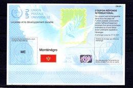 9899 IRC IAS CRI - International Reply Coupon - Antwortschein T41 Montenegro ME 20180215 AA - Montenegro